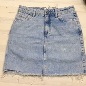 Zara Basic Z1975 denim mini skirt size xs